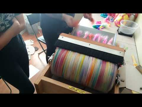 How to card a multi layered opalescent art batt