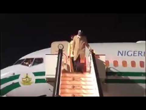 President Buhari Arrives London