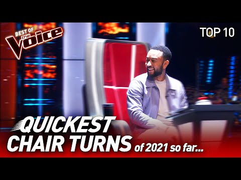Chair Turns within 10 seconds 😱 on The Voice 2021 so far   Top 10