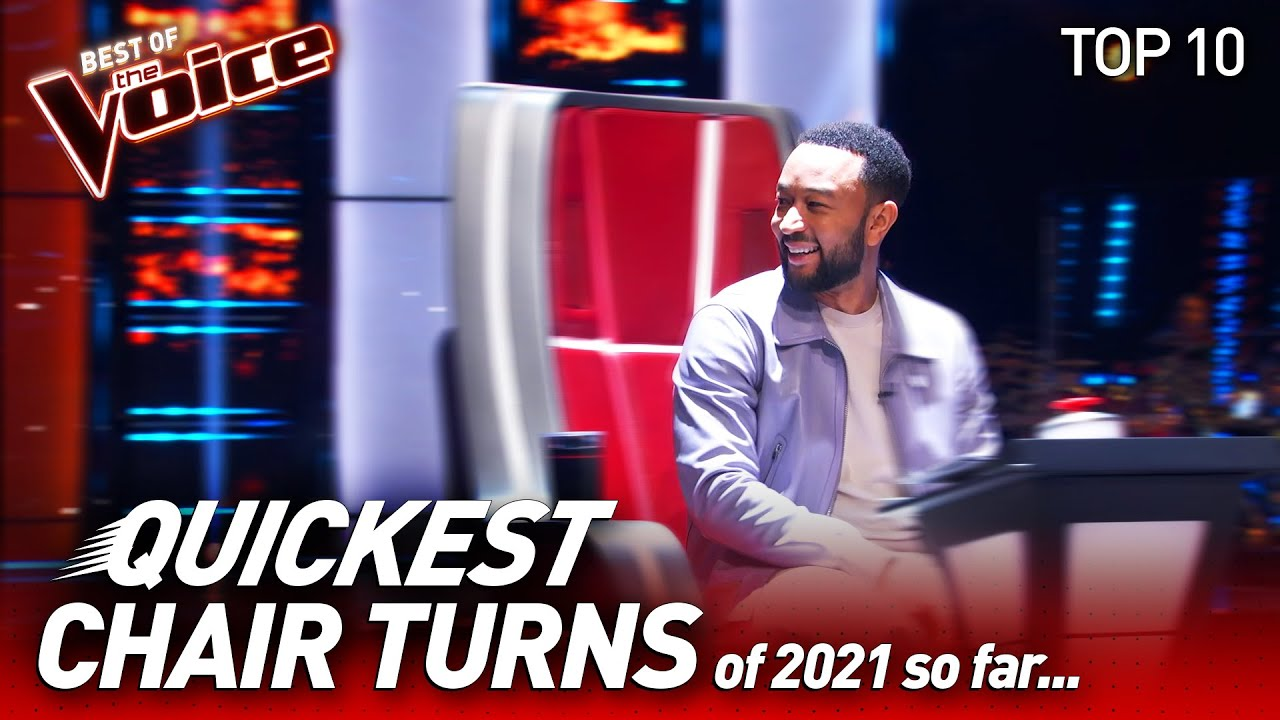 Chair Turns within 10 seconds 😱 on The Voice 2021 so far | Top 10