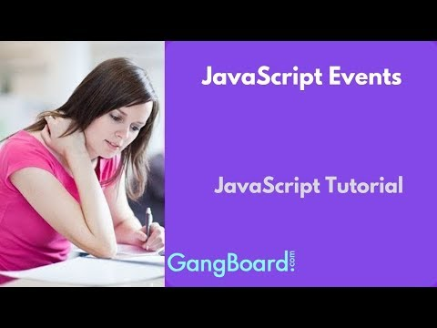 JavaScript Events | JavaScript Tutorial For Beginners thumbnail