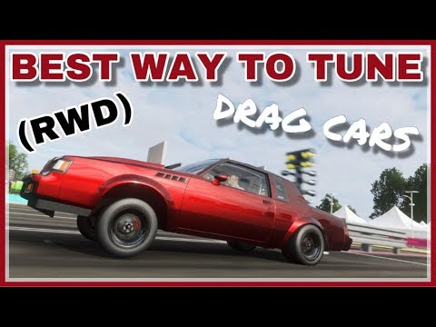 FORZA HORIZON 4 BEST (RWD) DRAG RACING TUNE [TIPS,TRICKS,GUIDE & SETUP]