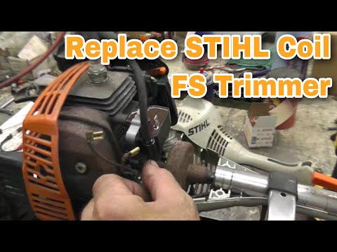 How To Replace A Coil On A Stihl FS Trimmer / Weed Whacker - with Taryl