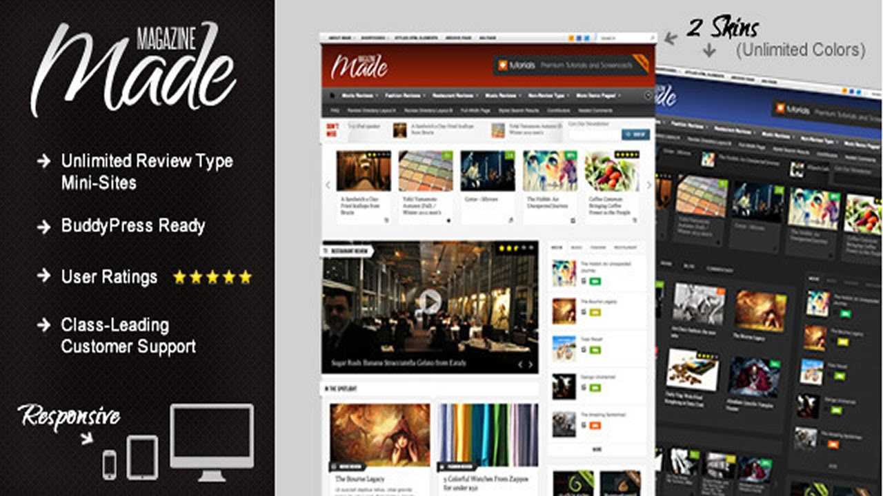 Made Responsive Review Magazine Theme Youtube