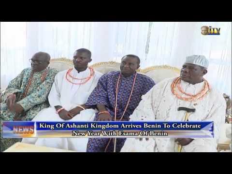 King of Ashanti Kingdom arrives Benin to celebrate New Year with Esama of Benin