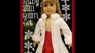 Exclusive American Girl Doll Ruby Ball Gown in Pretty City Carriage watch in HD
