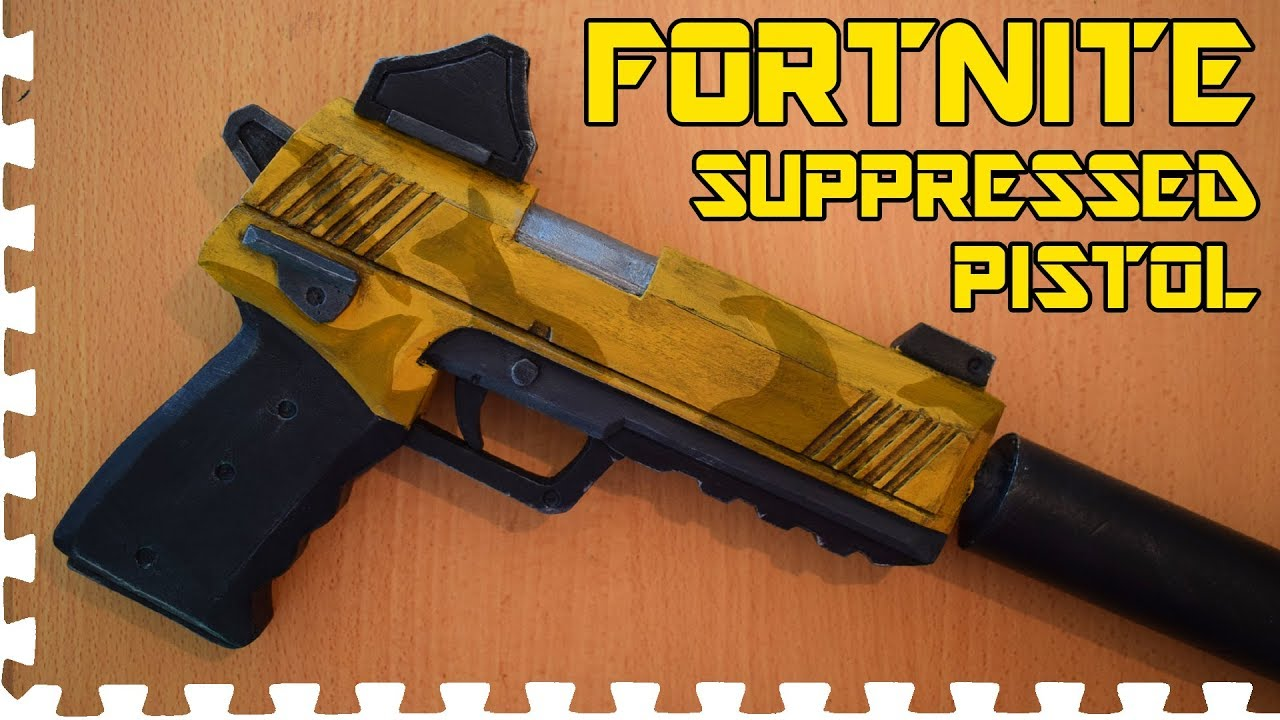 Fortnite Suppressed Pistol Cosplay Prop Youtube