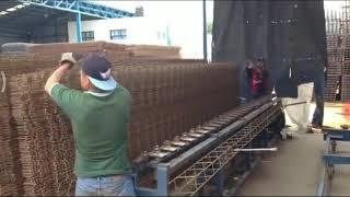 Mesin cepat pembuat pembesian kolom dan balok