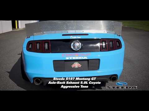 Steeda S197 Mustang GT Axle-Back Exhaust 5 0L Coyote - Aggressive Tone  (2011-2014 GT)