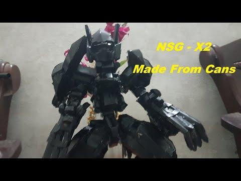 Chít Rung Làm Mô hình  Robot Gundam NSG-X2-Hresvelgr từ vỏ lon
