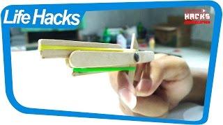 Hacks Kehidupan Luar Biasa AMAZING Trik kreatif membuat pistol mainan dari stik es krim
