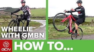 How To Wheelie A Road Bike – Can GMBN Wheelie On A Road Bike?!