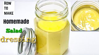 DIY SALAD DRESSING  how to make easy and delicious homemade SALAD DRESSING.