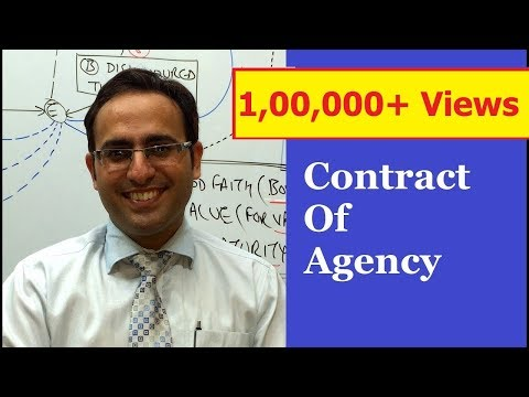 INTRODUCTION TO CONTRACTS OF AGENCY  Video || Business Law Lectures for CA,CS,CMA