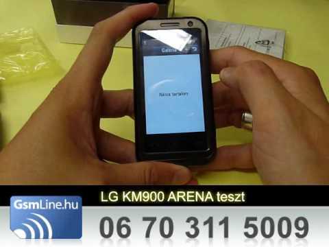 LG KM900 Arena Teszt | www.GsmLine.hu