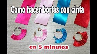Como hacer borlas con cinta de manera fácil y en 5 minutos