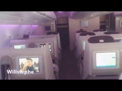 Intérieur Airbus A380 - vol Paris - Abidjan ( Air France )