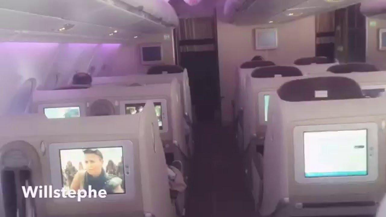 Intérieur Airbus A380 - vol Paris - Abidjan ( Air France ) - YouTube