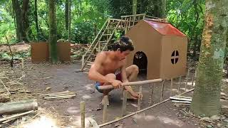 Build Mini Swimming Pool For Dogs And Build Bamboo Dogs House   Build dog house and Build mini pool