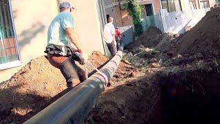 ГНБ прокол 12м д200 в колодец. Бестраншейная прокладка ливневой канализации. г.Краснодар