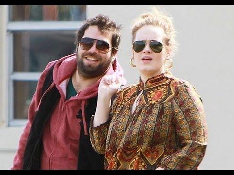 Happily married husband and wife: Angelo Adkins and Adele