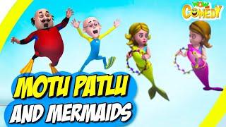 Motu Patlu- EP31B | Motu Patlu and Mermaid | Funny Videos For Kids | Wow Kidz Comedy