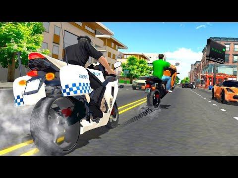 Police Bike Racing Free - Gameplay Android Game - Police Motorbike Driving Simulator Game