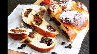 Fruit and Nut Braided Bread | Сдобный хлеб с сухофруктами и орехами