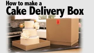 How to Make a Cake Delivery Box | Cake Business Tips
