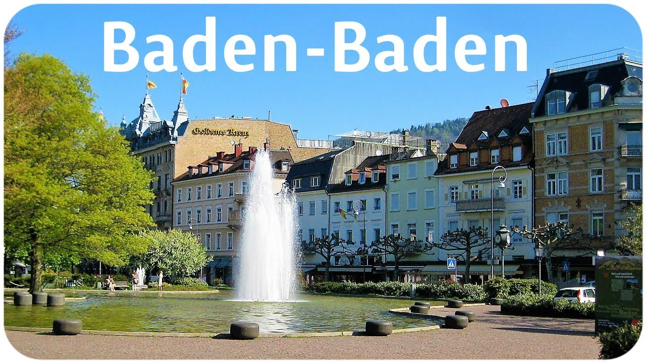 baden baden spa town in germany youtube. Black Bedroom Furniture Sets. Home Design Ideas
