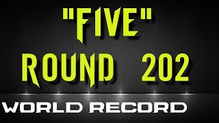 Five solo World Record Round 202 (reset) ! bo1 Zombies