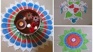 3 beautiful rangoli designs using paper quilling comb | Innovative rangoli designs by Poonam Borkar