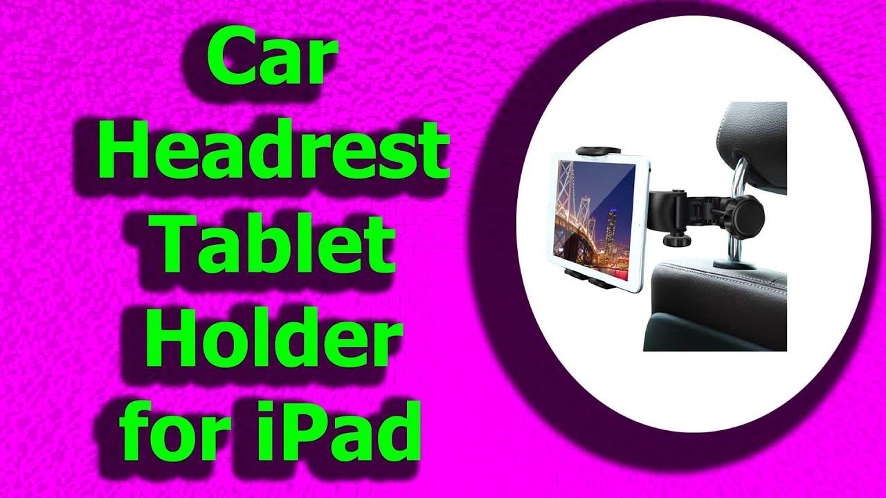 Car Headrest Mount Ansteker Car Headrest Tablet Holder for ...