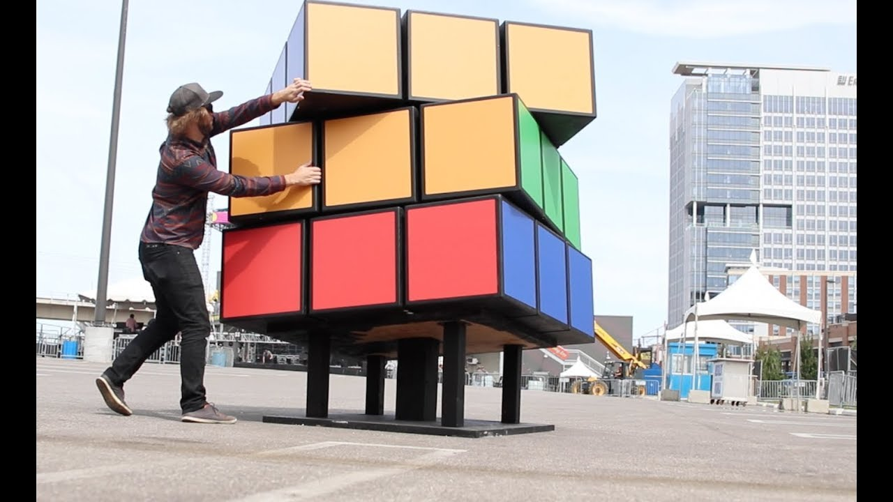 Building A Massive Rubik S Cube Sculpture