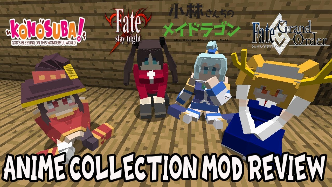 THE MINECRAFT ANIME WAIFU MOD! || Minecraft Anime Collection Mod Review