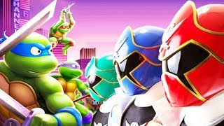 Colorful Game - Power Rangers vs Ninja Turtles - Tortugas Ninjas - Subway Fight