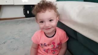 Фото Мы уже ходим  ✅ детский ЗАВТРАК ✅ Зехра играет в мяч✅ ни на кого не реагирует ✅