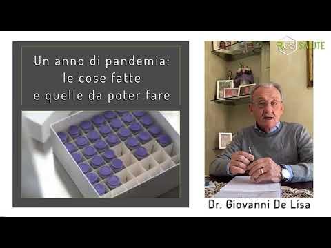 Un anno di pandemia le idee del Dr. Giovanni De Lisa