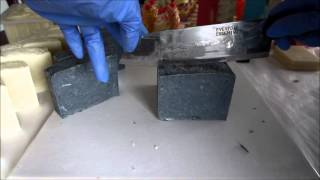 1127 Bath Boutique - Cutting Activated Bamboo Charcoal & Tea Tree Essential Oil Soap - Handmade HP