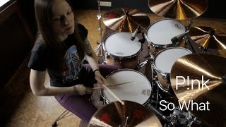 Pink - So What (drum cover by Vicky Fates)