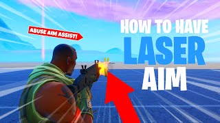 HOW TO ABUSE AIM ASSIST IN SEASON 10! *LASER AIM IN FORTNITE BATTLE ROYALE*