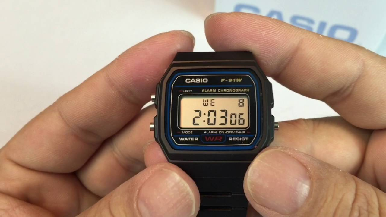 c478a262c Casio F91W-1 Classic Resin Strap Digital Sport Watch - YouTube