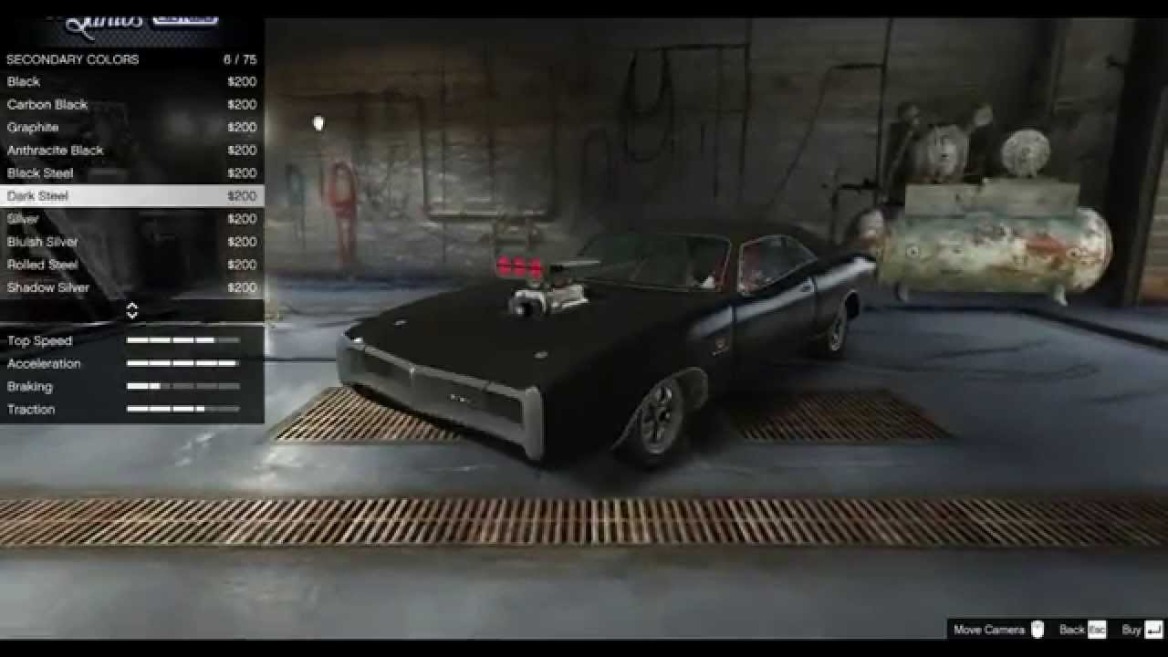 Making Vin Diesel 1970 Dodge Charger In Gta 5 Youtube