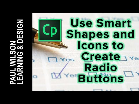Adobe Captivate QuickTip - Use Smart Shapes & Icons to Create Radio Buttons