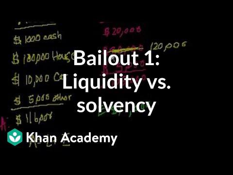Bailout 1: Liquidity vs. Solvency
