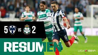 embeded bvideo Resumen: Monterrey 5-2 Santos | Cuartos de Final Ida Apertura 2019