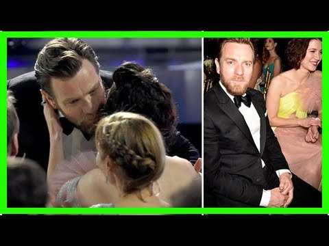 Ewan McGregor kisses lover Mary Elizabeth Winstead after winning Best Actor gong at Critics' Choice