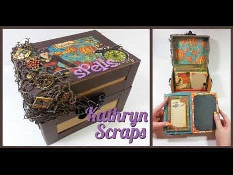 Scrapbook Altered Art: Steampunk Spells Chest