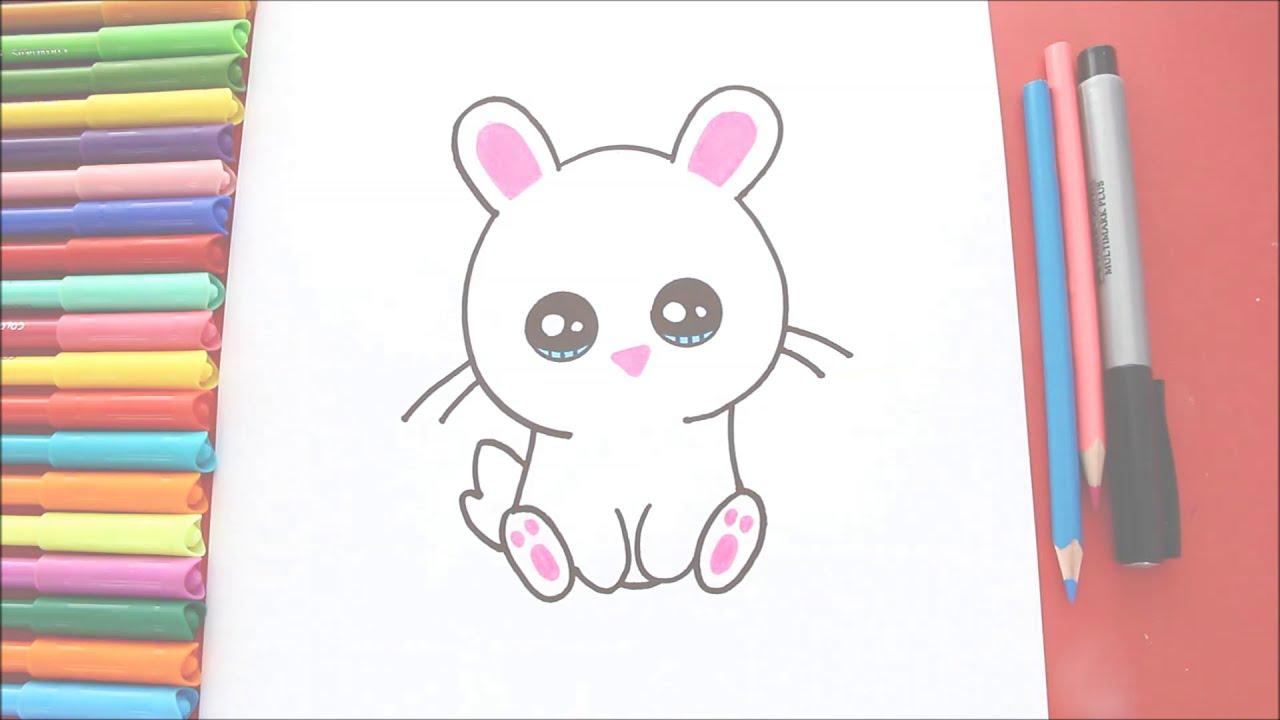 Cómo Dibujar Un Conejito Fácil En Pocos Pasos Colorear Conejo Kawaii Dibujos Fáciles Para Niños Kidsletsdraw 0300 Hd