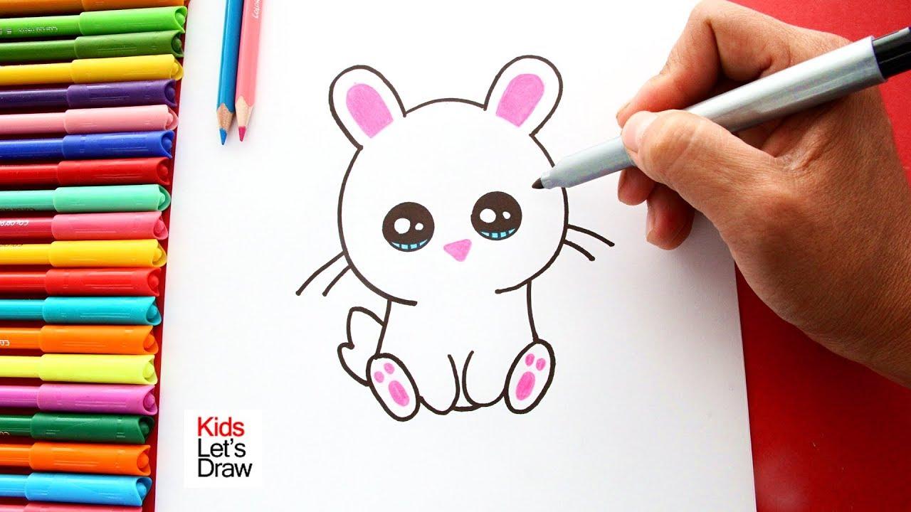 Como Dibujar Y Colorear Un Conejito Facil En Pocos Pasos Youtube
